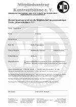 Mitgliedsantrag Kontratbühne
